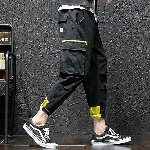 Pantalones casuales de calle Pantalones de carga Hombres ...