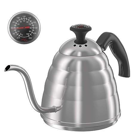 Amazon.com: Pour Over Coffee Kettle con termómetro fijo para ...