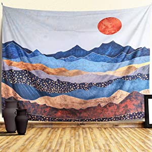 ZAMAT Mandala Tapestry, HD Print Indian Hippie Wall Tapestry,Bohemian Tapestry Wall Hanging with Hangers and Nails, Floral Wall Blanket For Living Dorm Room Decor (59.1 x 82.7 inch, Sunset)