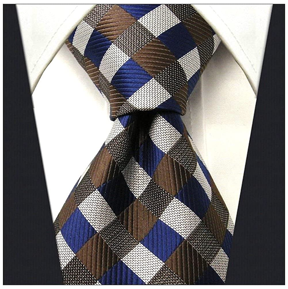 Gingham Plaid Ties for Men - Woven Necktie - Mens Ties Neck Tie by Scott Allan Scott Allan Collection SA-00-264-DY