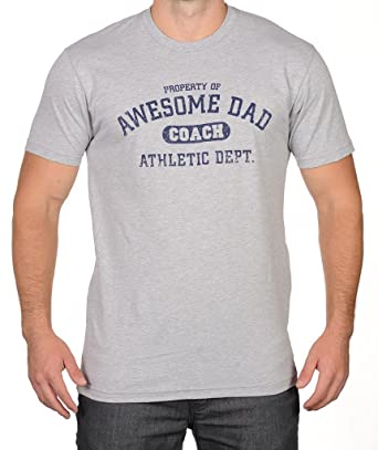 581983aa Amazon.com: Awesome Dad Men's Coach Athletic Department Father's Day T-Shirt:  Clothing