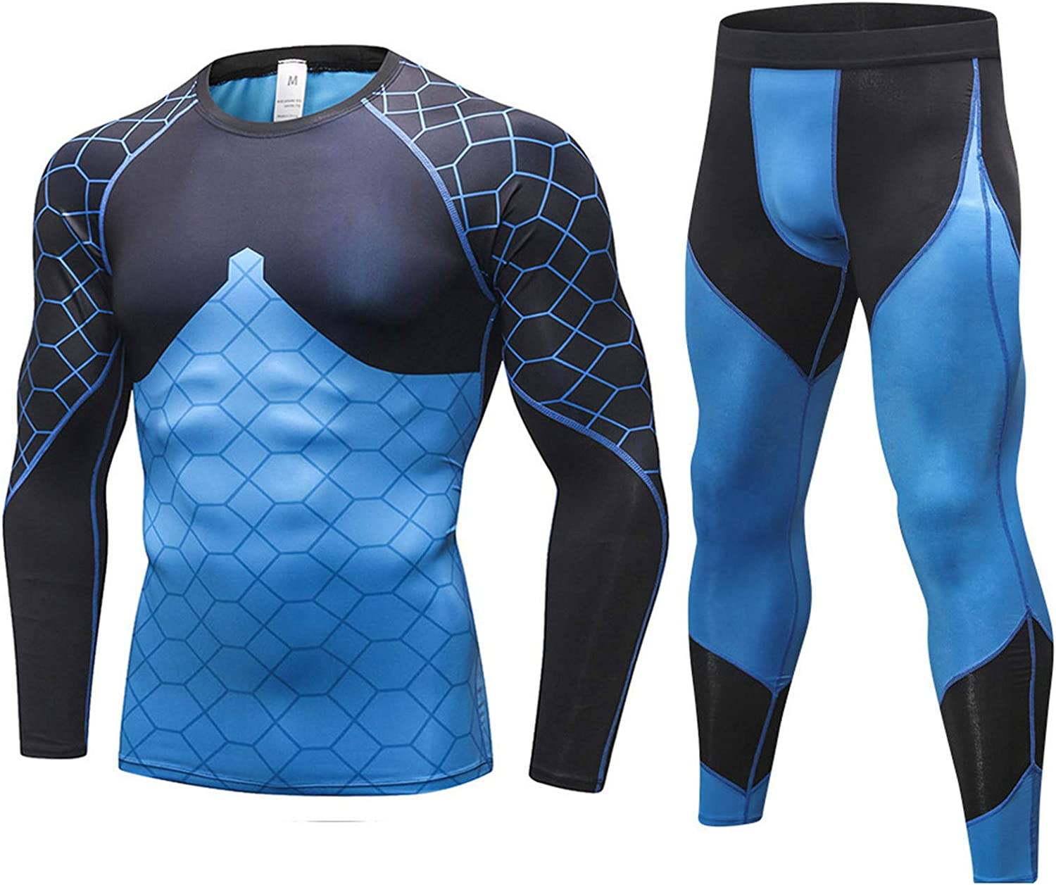 Mens Fitness Shorts Pants Moisture Wicking Stretch Compression Long Johns Shorts