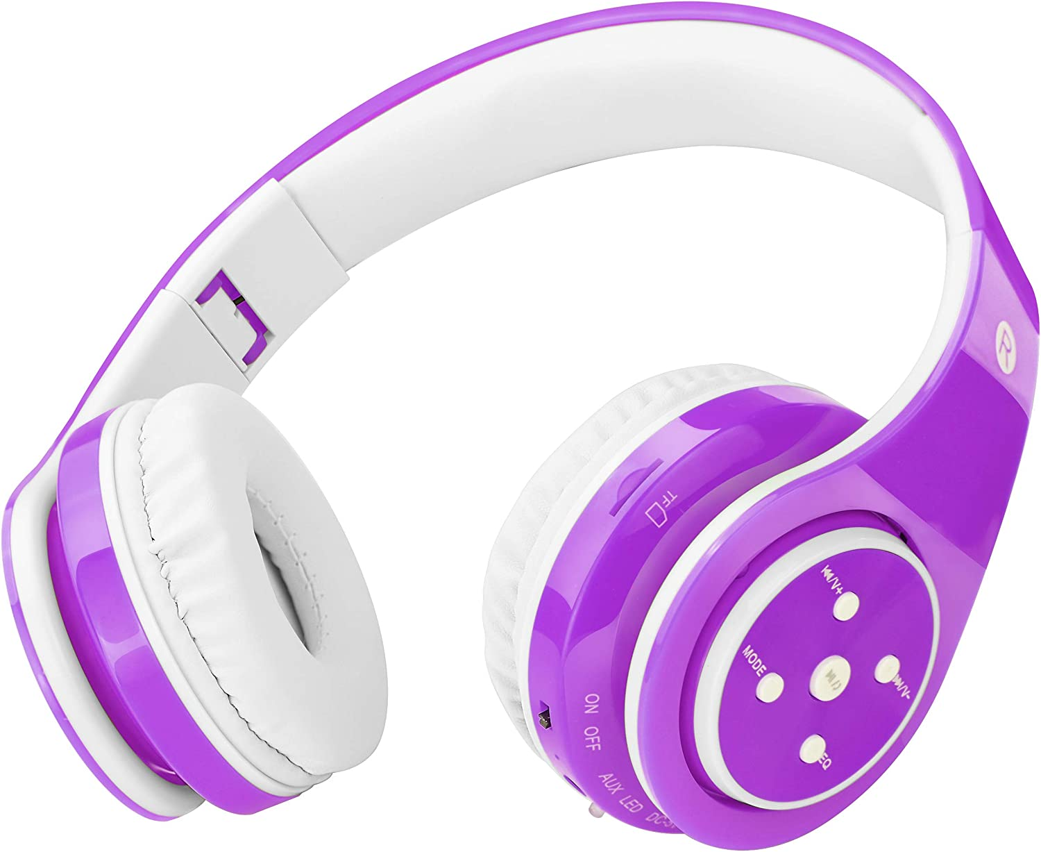 Amazon Com Kids Headphones Bluetooth Wireless On Ear Foldable Stereo Sound Headset Safey Volume Limited Long Playing Time Sd Card Slot Build In Mic 3 5mm Jack Wireless Wired Headphones Purple Electronics