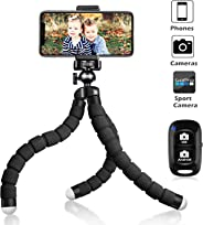 UBeesize Tripod S, Premium Phone Tripod, Flexible Tripod with Wireless Remote Shutter, Compatible with iPhone/Android Samsung