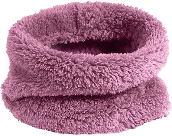 TOSKATOK Des Gamins Filles Hiver Nervure Point de Semence Thermique Chaud Confortable Doublure Polaire Cache-cou Snood Echarpe Echarpes