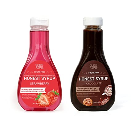 ChocZero Chocolate Syrup and Strawberry Syrup. Sin azúcar ...