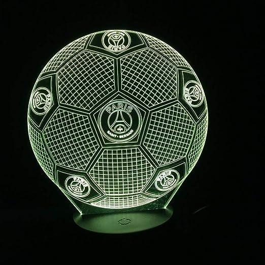 xiadsk Luz Nocturna 3D Horse Illusion Control Remoto de fútbol ...