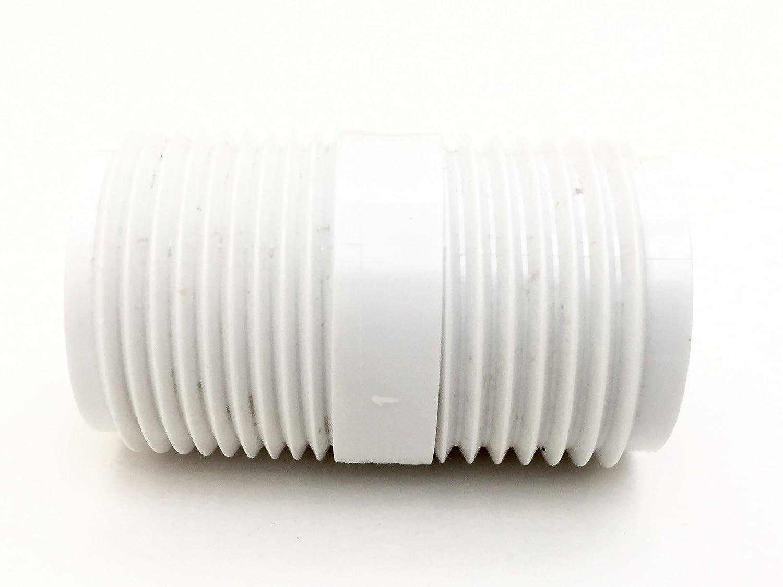 "PVC Garden Hose Adapter (Male 3/4"" NPTx 3/4"" GHT) For Rain Barrels, Garden Spigot, Water Tanks, Ponds, Aquariums"