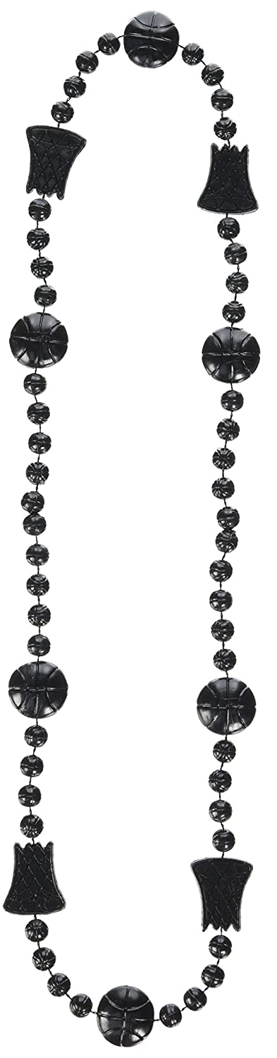Beistle Basketball Beads 36 Inch Black