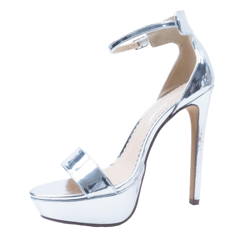 Lauren Lorraine Silver Darlene Platform Special Occasion Sandal B07B8W6VRL 9.5 B(M) US|Silver