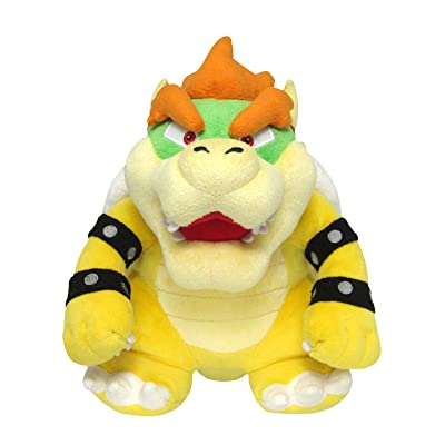 "Sanei Super Mario All Star Collection 10"" Bowser Plush, Small: Toys & Games"