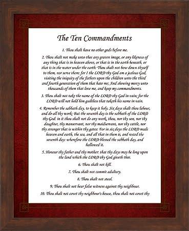 Amazoncom The Ten Commandments Red By Veruca Salt Framed Art
