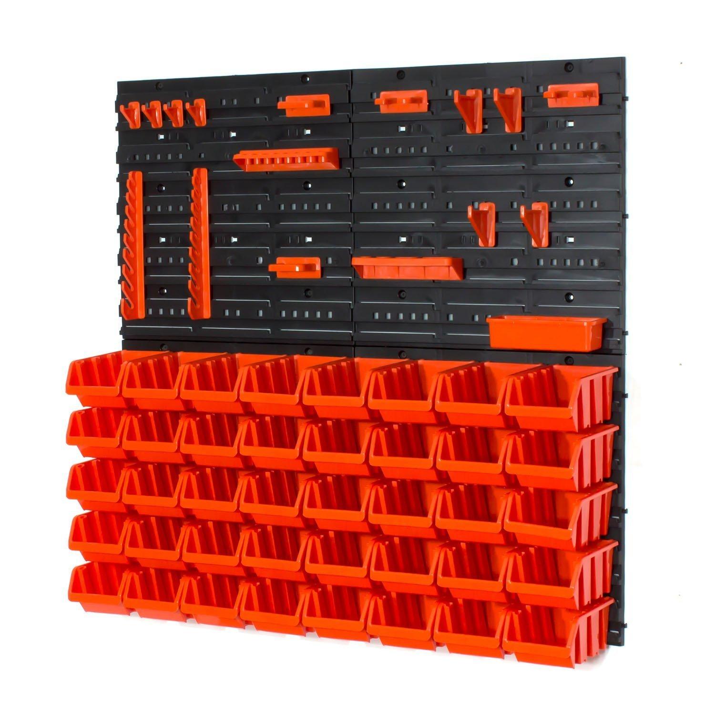 Juego de 40 S tamañ o in-Box cajas de almacenamiento, herramienta perchas y pared Louvre Prosperplast