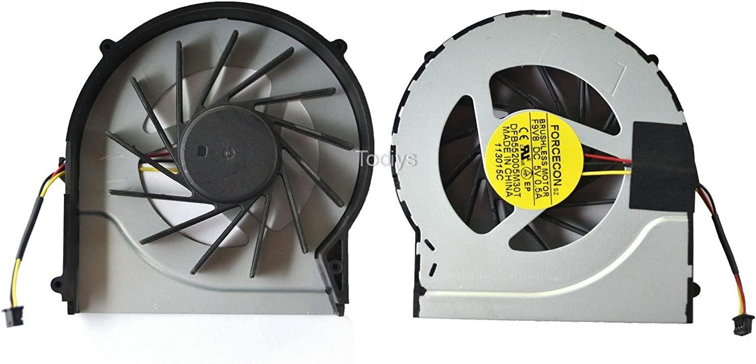 Todiys CPU Cooling Fan for HP Pavilion DV6-3000 DV6-4000 DV7-4000 Series DV6-3034NR DV6-3037CA DV6-3147CA DV6-3259WM DV6-3270CA DV6-4051NR DV7-4053CL DV7-4169WM DV7-4267CL DV7-4269WM DFB552005M30T