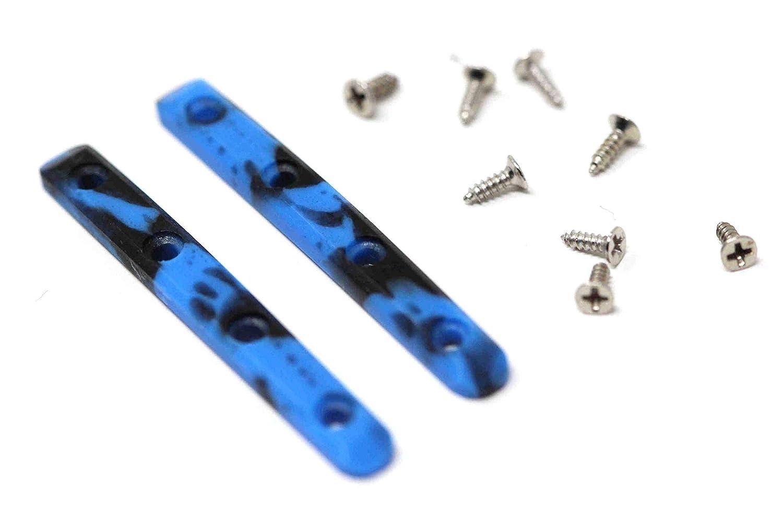 Blue//Black Skull Fingerboards Urethane Swirl Fingerboard Board Rails