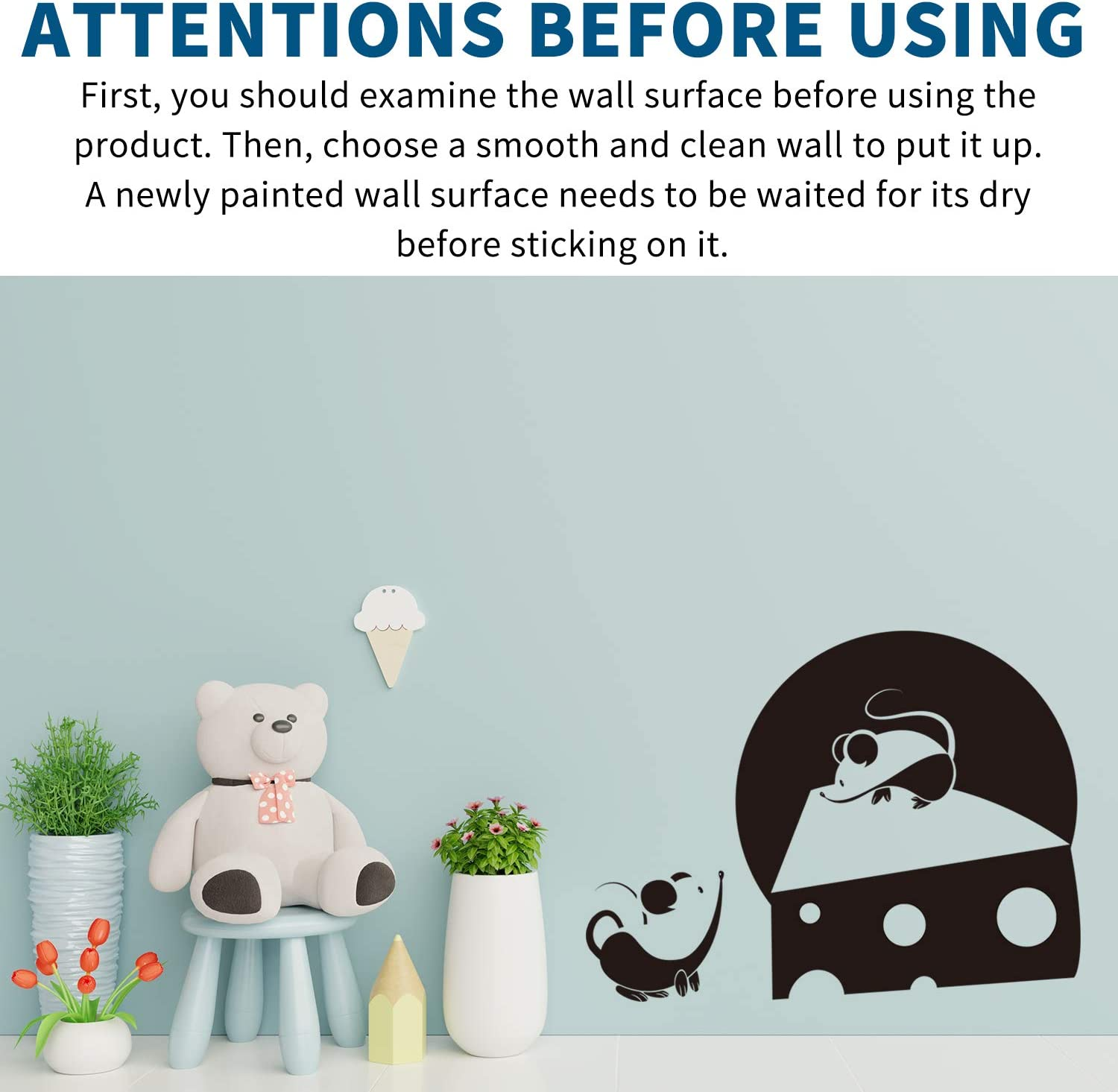 Llama Wall Decor,Home Wall Art Decal Suitable for Family Living Room Bedroom Vinyl Contemporary Baby Kids Rooms Vinyl Wall Decor(Black 20.4 X 20.8inches VODOE Llama Wall Decals