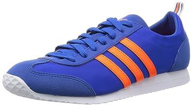 Mens Lightweight Nylon Upper Retro Running Fashion Trainer - Blue/Orange - UK SIZES 6