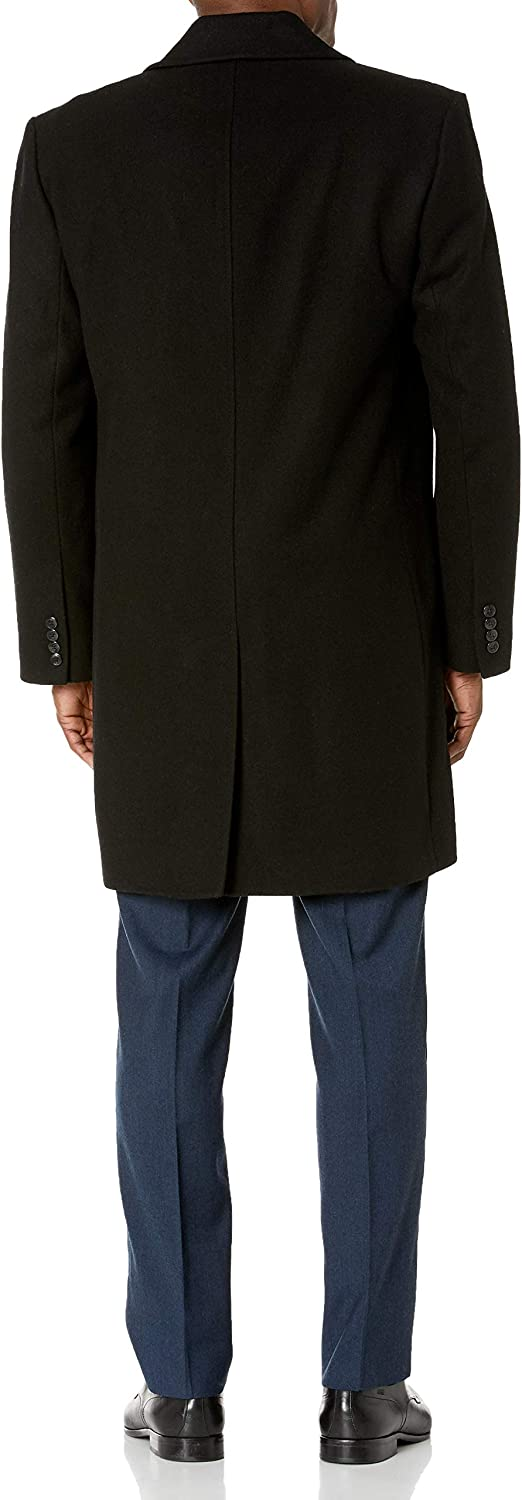 London Fog Mens Signature Wool Blend Top Coat