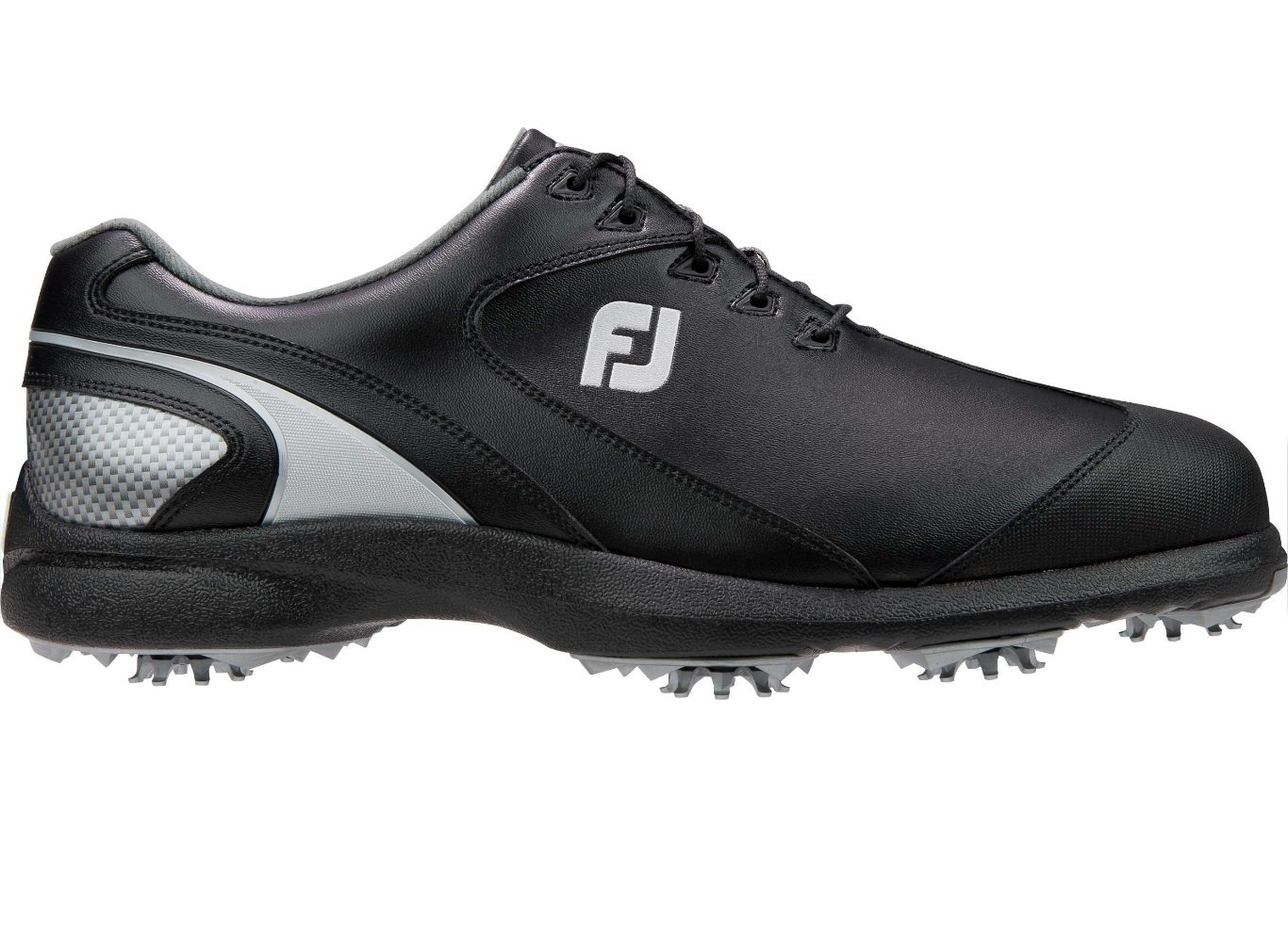 FootJoy Sport LT Golf Shoes (9.5, Black/Silver-M) by FootJoy