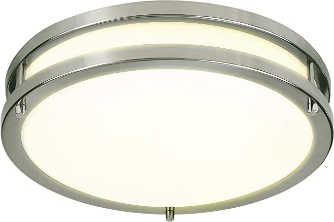 Bathroom Stairwell 15W 2100LM Round LED Ceiling Lamp,3 Color Temperatures Waterproof IP44 for Kitchen Bedroom 150W Equivalent Hallway 80Ra Aialun 12inch LED Ceiling Light Flush Mount