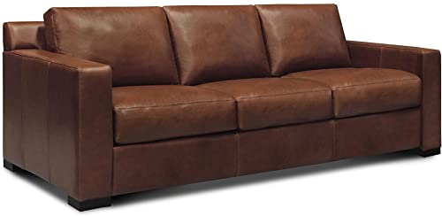Santiago 100 Top Grain Leather Mid-Century Sofa