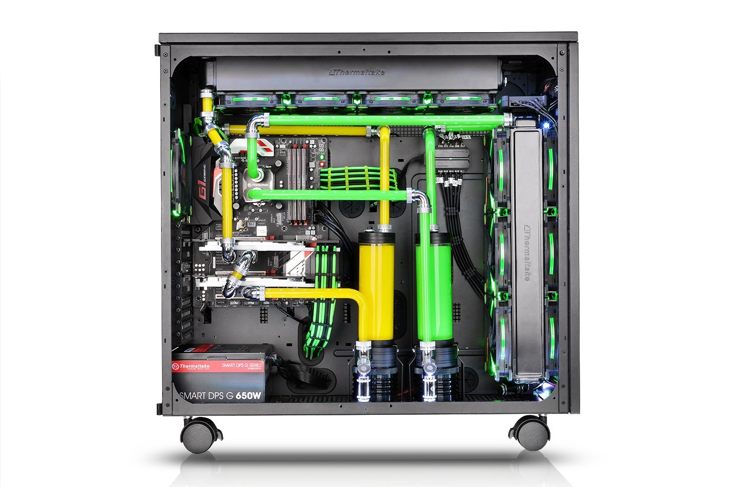 Thermaltake Core W100 Extreme Water Cooling XL-ATX Fully Modular/Dismantle Stackable Tt LCS Certified Super Tower Computer Case CA-1F2-00F1WN-00 by Thermaltake