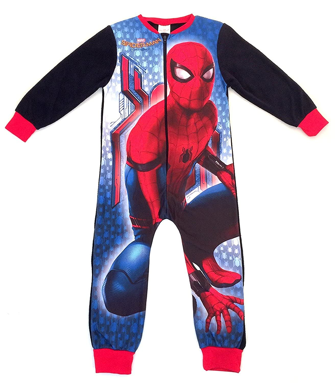 Boys MARVEL SPIDERMAN fleece onesie, all-in-one - Ages 4/5, 5/6, 7/8, 9/10 yrs