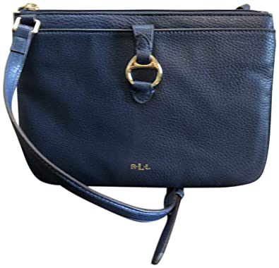 7d08823c60c5 Lauren Ralph Lauren Leather Anfield II Crossbody Navy  Handbags  Amazon.com