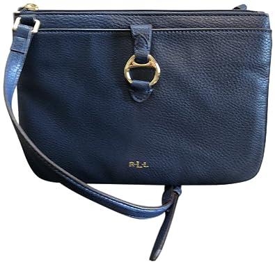 be33a1e6b Lauren Ralph Lauren Leather Anfield II Crossbody Navy: Handbags: Amazon.com