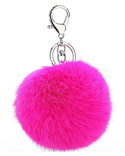 Buy Young   Forever Royal Closet Pink Fur Ball Keychain for Men and Women ( Silver) Online at Low Prices in India  e96d10cfb