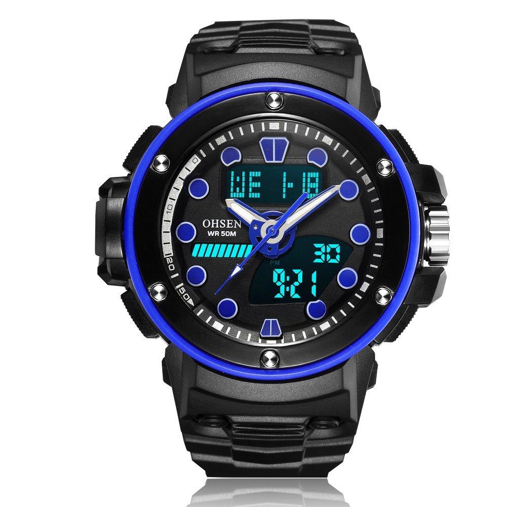 HWCOO AD1712 hombres y mujeres deportes y ocio multifuncional pantalla digital reloj impermeable movimiento (Color : 5) : Amazon.es: Relojes