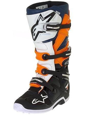 Stiefel 7 Alpinestars Motocross Orange Tech Schwarz Weiss 80kNnwOPX