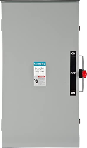 Siemens DTGNF224NR 200-Amp, 2 Pole, 240-volt, 3 Wire, General Duty, Double Throw, Type 3R