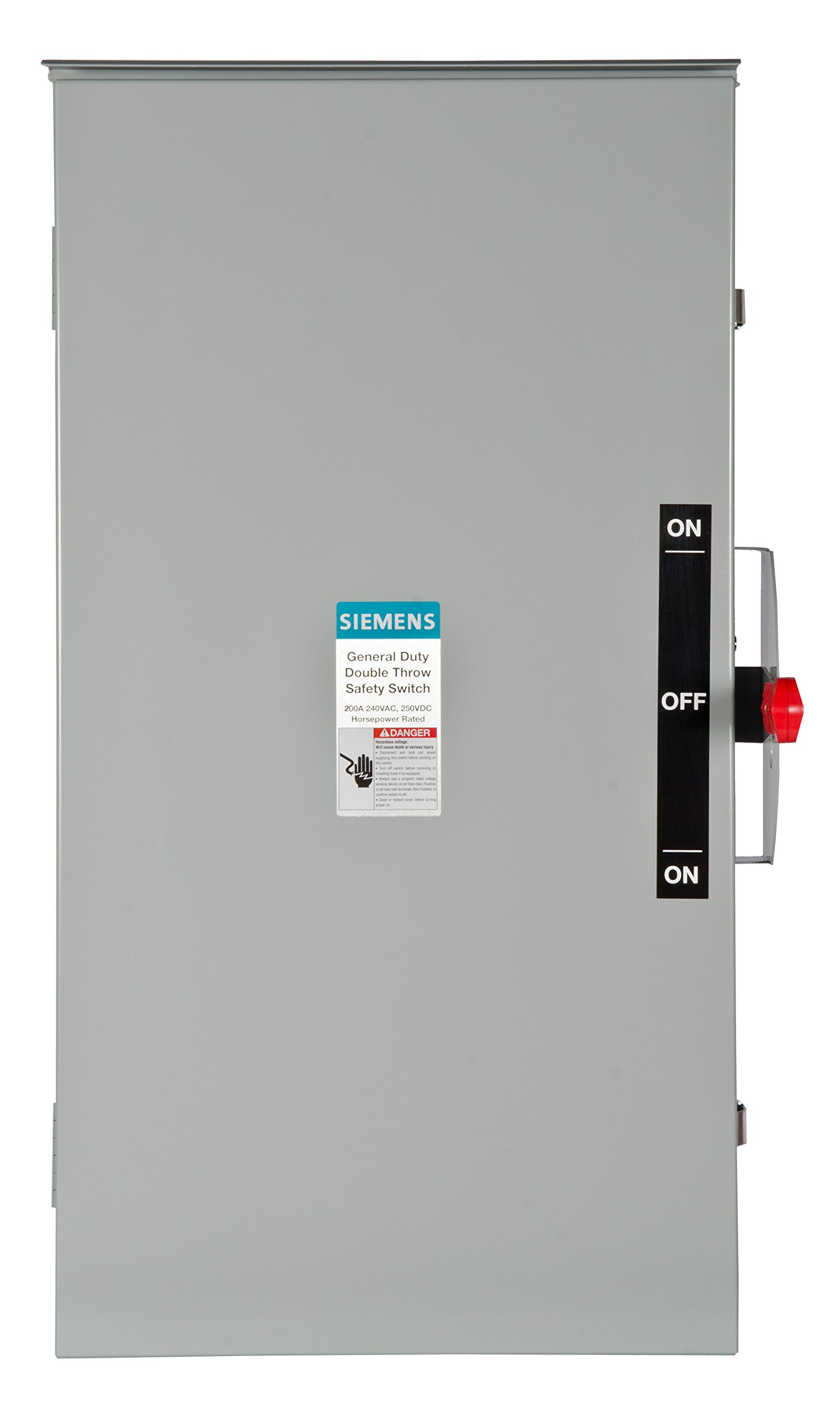 Siemens DTGNF224NR 200-Amp,, 2 Pole,, 240-volt,, 3 Wire,, General Duty, Double Throw, Type 3R