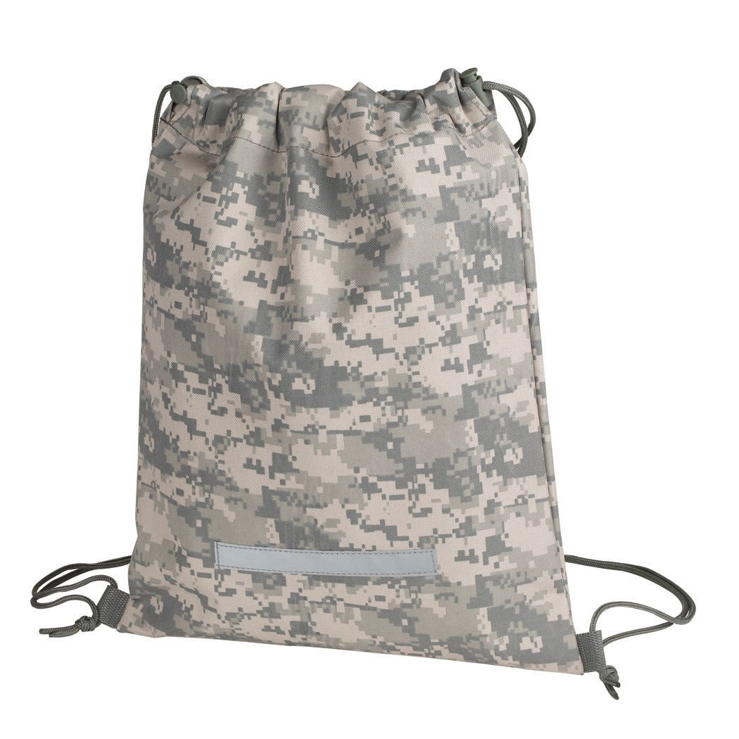 impecgear Heavy Duty Drawstringバックパックデジタル迷彩Army Navyミリタリーキャンプとハイキングバッグ  1パック B01M0RZLN1