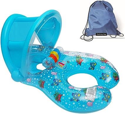 Flotadores hinchables para dos personas (mamá y bebé), piscina ...