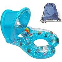 Flotadores hinchables para dos personas (mamá y bebé), piscina hinchable retráctil y extraíble, flotador de piscina para…