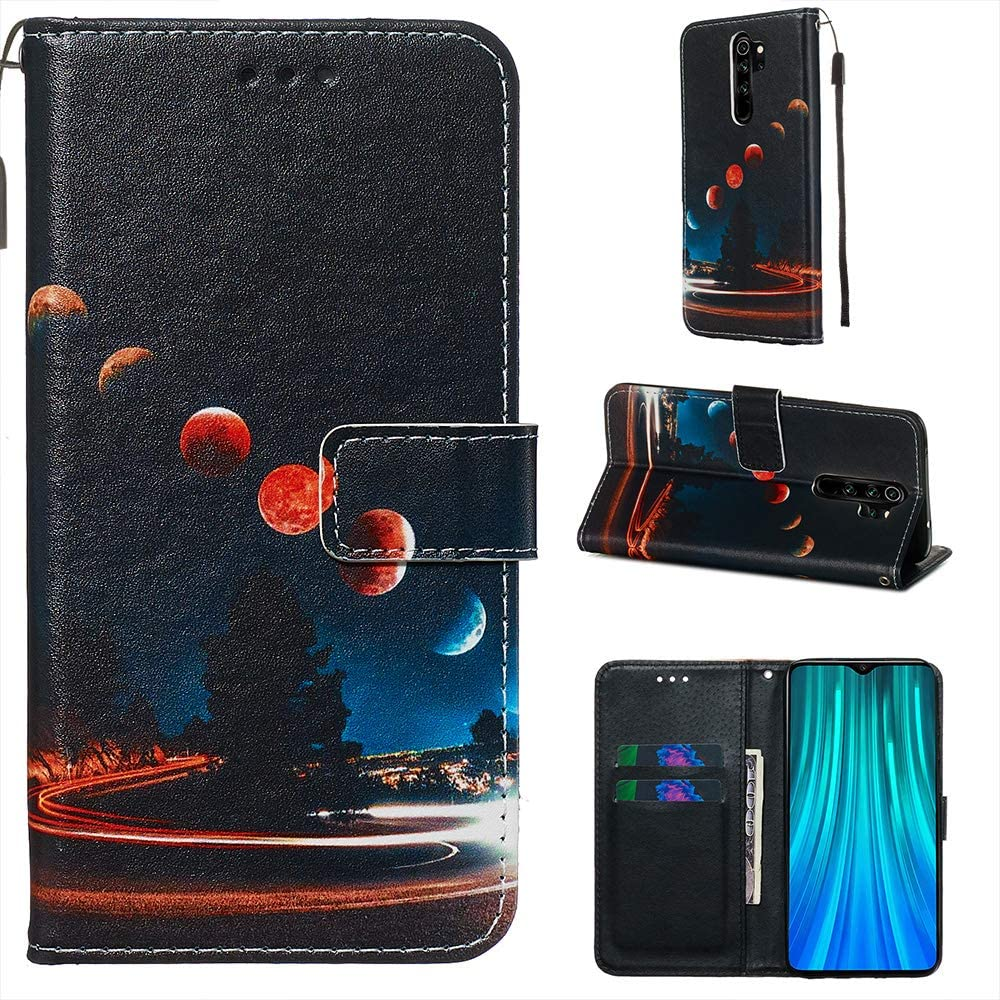 Miagon for Xiaomi Redmi Note 8 Wallet Case,PU Leather Folio Flip Cover with Stand Card Slots Magnetic Closure,Cat Mirror Tiger