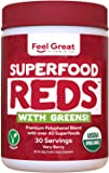 Superfood Vital Reds with Greens Juice Powder by Feel Great 365, Doctor Formulated,100% Non-GMO, Whole Food Multivitamin…
