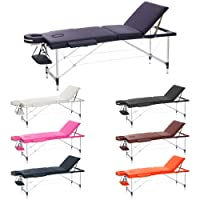 H-ROOT 3 Section Ultralégère En Aluminium Portable Table De Massage Canapé Lit Plinth Thérapie Tatoo Salon Reiki Guérissant Suédois Massage