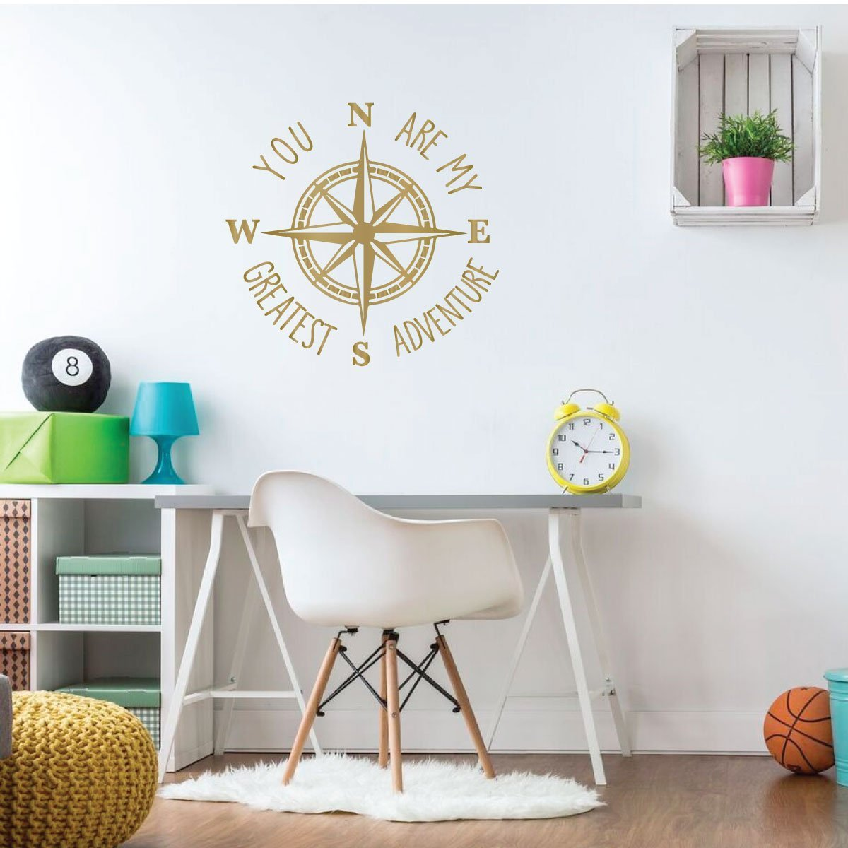 Compass Wall Decal Study Area or Living Room Decor You Are My Greatest Adventure Vinyl Sticker Decorations for Bedroom Playroom