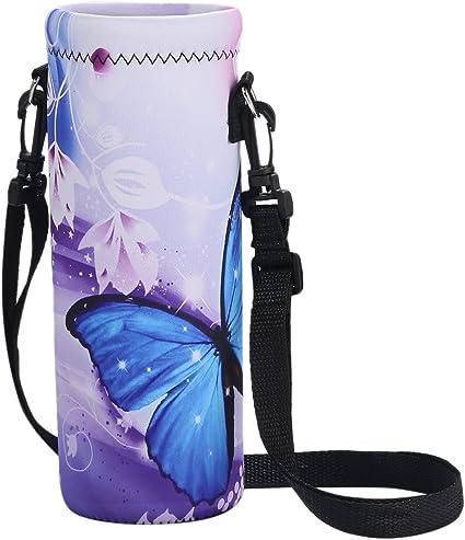 Carrier Insulated Neoprene Water Bottle Holder Bag Pouch Cover Shoulder Strap US