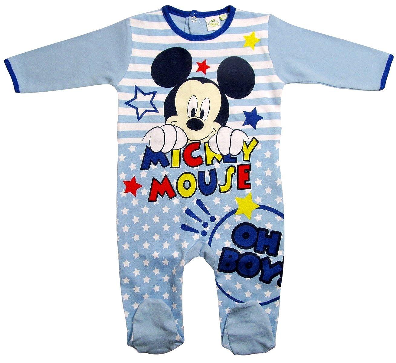 Mickey Mouse - Salopette - Bébé (garçon) 0 à 24 Mois Rose Rosa 56 cm-62 cm