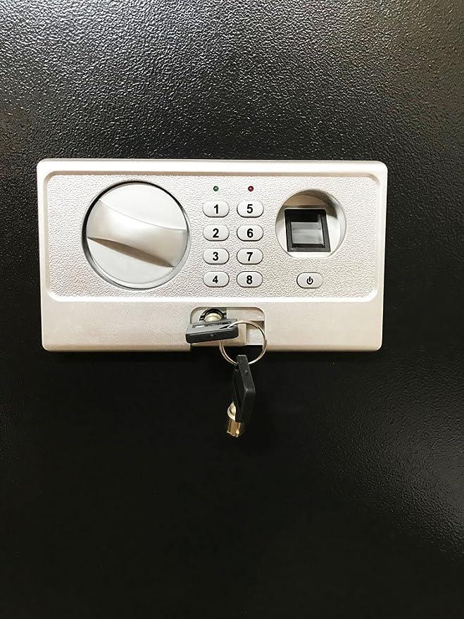 Ultimate Safe 0.52 cu ft Biometric Fingerprint Hidden Wall Safe with Triple Blade Lock