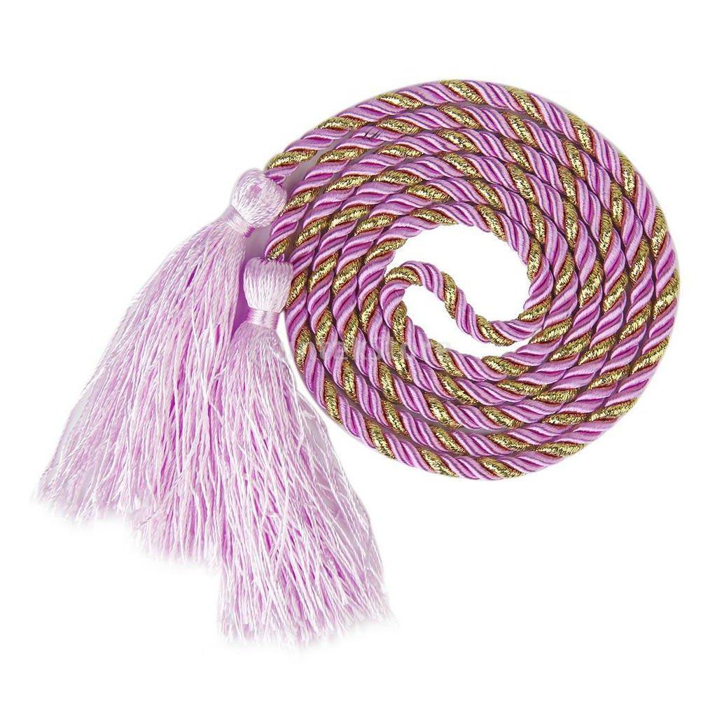 YYC Set of 2 Fringe Tassel Curtain Rope Drapery Holdback Curtain Tie (Pink)
