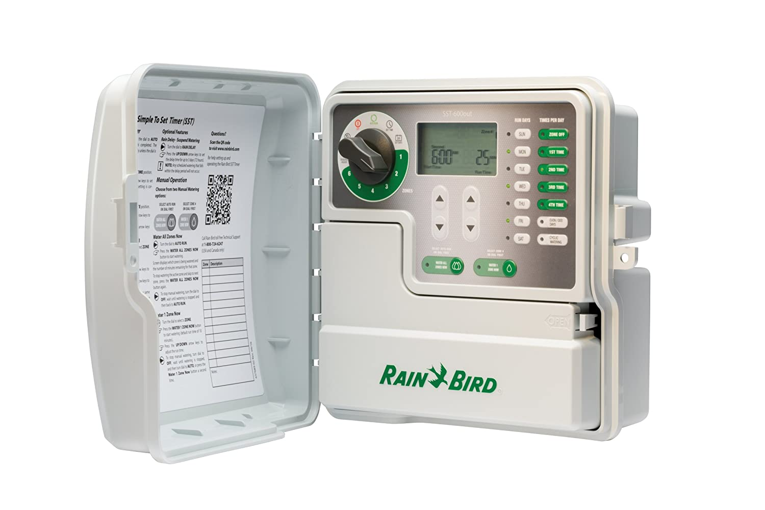 6-Zone//Station Rain Bird SST600IN Simple-to-Set Indoor Sprinkler//Irrigation System Timer//Controller This New//Improved Model Replaces SST600I