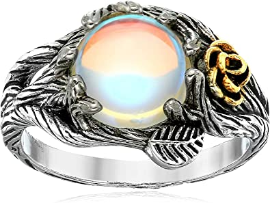 UK Womens Moonstone Crystal Rose Gold Wedding Engagement Rings Gifts Size 6-10