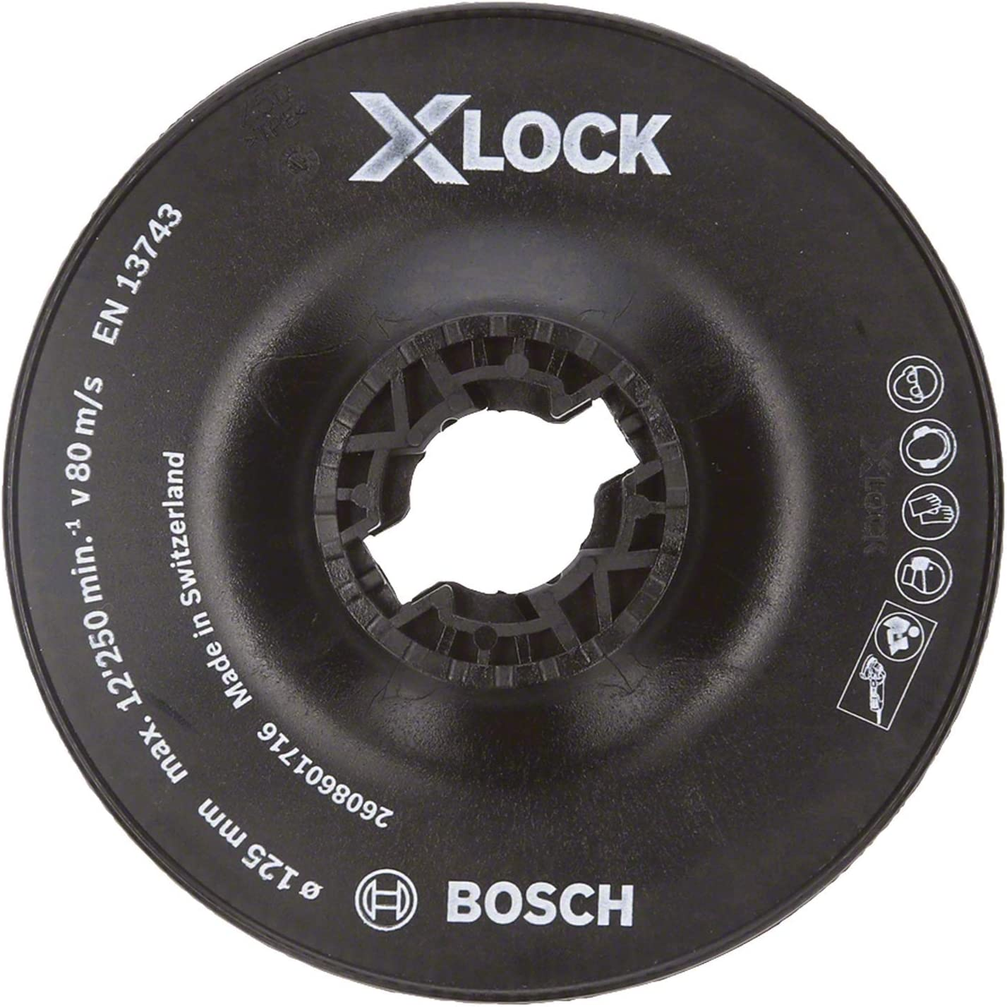 Bosch Professional 2608601716 Plateau de Pon/çage  dur X-LOCK, /Ø/125/mm