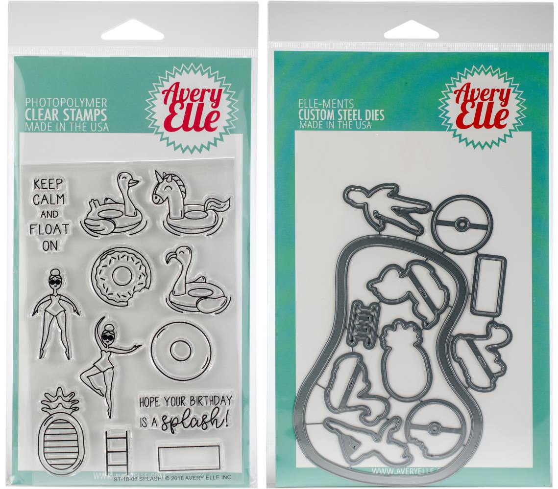 Avery Elle - Splash - Clear Stamps and Dies Set
