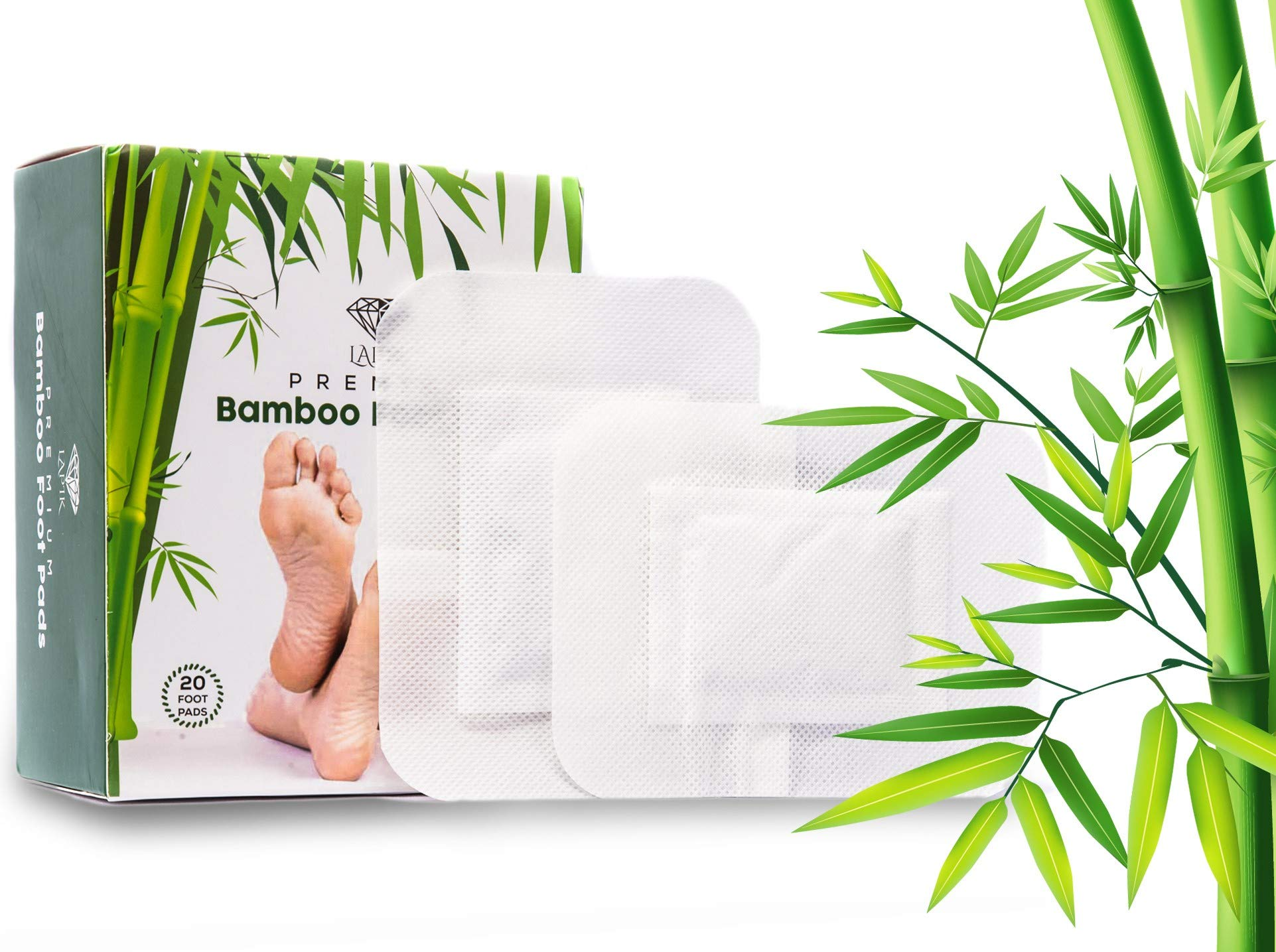 Foot Pads - Remove Impurities, Body Cleansing, Pain & Stress Relief, Improve Sleep, 100% Organic 20pcs by LAPIK